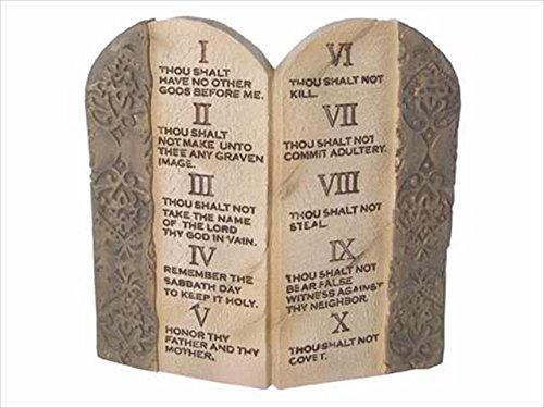 Resin Tabletop Plaque Ten Commandments