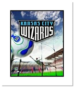Kansas City Wizards MLS Soccer Team Logo Double Matted 8 x 10 Photograph by Unknown
