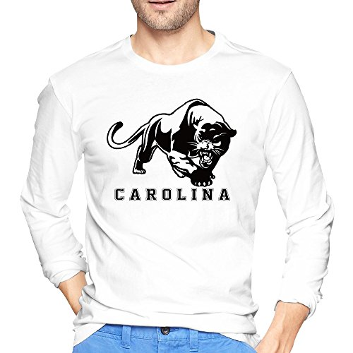 JaHa Men's Carolina Panthers Great Sketch Long-Sleeves T Shirts White (100 Kisses Tickets compare prices)