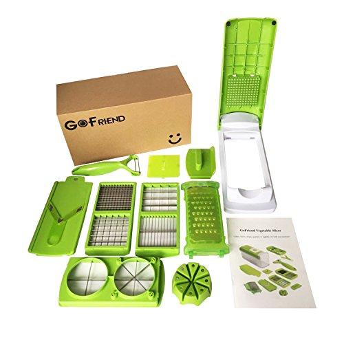 GoFriend® Multi-functional 12 in 1 Vegetable Slicer, Fruit Dicer Chopper Kitchen Cutter (Food Chopper Vidalia compare prices)