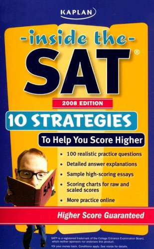 Inside the SAT 2008 (Kaplan Inside the Sat)