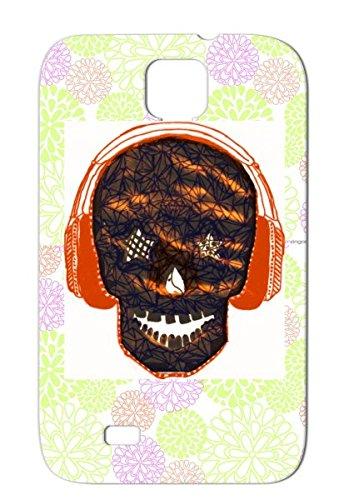 Tpu Love Headphones Music Big Bang Kpop Pop Music Skull Black For Sumsang Galaxy S4 Case