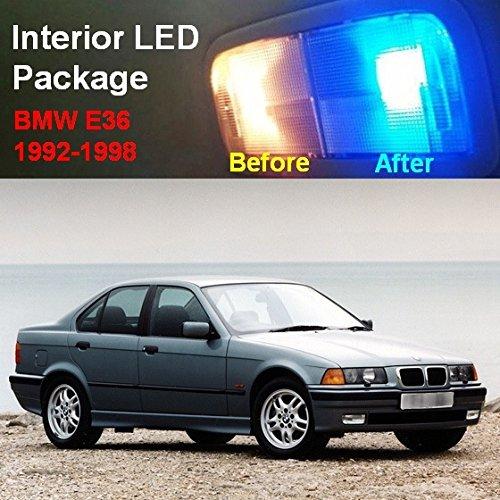 Interior Car Detailing Package: Partsam 1992-1998 BMW E36 328i 325i 318i Blue LED Interior