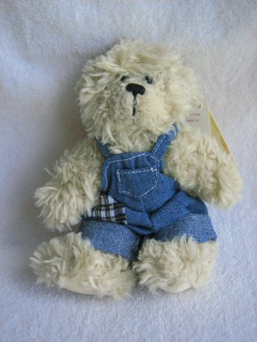 "Russ Berrie 5"" ""Cobby"" Plush Teddy Bear with Patched Coveralls from Alice's Bear Shop - 1"