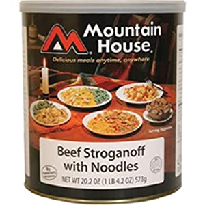 Mountain House Beef Stroganoff #10 Can Freeze Dried Food - 6 CANS per Case NEW! by Mountain House