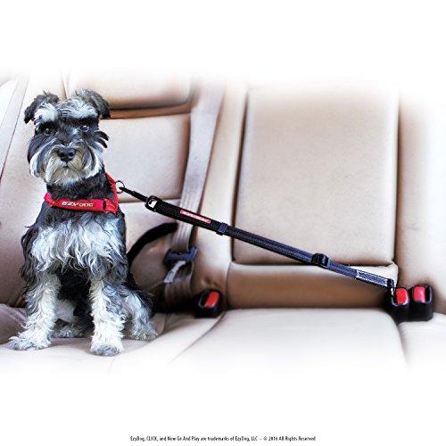 EzyDog CLICK - Best Dog Seat Belt Car Harness for Dogs - Adjustable Dog Restraints Seatbelts for Cars (17.5in - 26in) (Dog Car Harness Seat Belt compare prices)