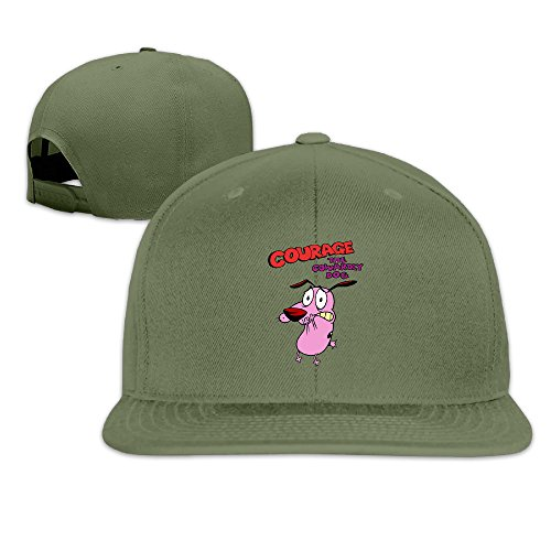 Custom Unisex ForestGreen Adjustable Sports Courage The Cowardly Dog Snapback Flat Caps One Size (Kansas State Chef Hat compare prices)