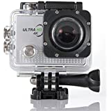 Putars 4K Action Camera Sports Outdoor Camera Waterproof 30m 1080p HD 170 Degree Wide Angle Lens Sports Camera