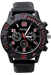 Classic Round Dial Watch for Men Women with Silicone Wrist Band Sports Casual.