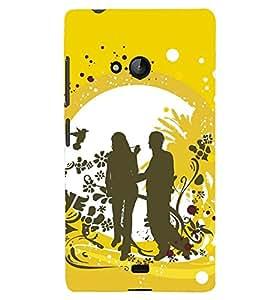PRINTSHOPPII LOVE COUPLE Back Case Cover for Lumia Lumia 540::Microsoft Lumia 540