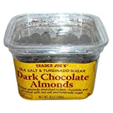 Trader Joes Sea Salt & Turbinado Sugar Dark Chocolate Almonds