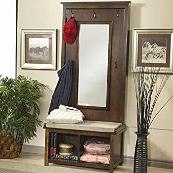 Coaster Home Furnishings Transitional Hall Tree, Walnut