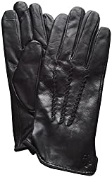 Lauren Ralph Lauren Touch Screen Leather Gloves Black XL
