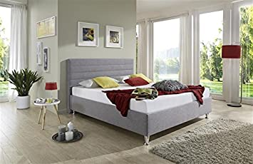 Breckle Polsterbett, Bett 100 x 200 cm Melbourne Bavaria 28 cm Höhe Stärke 6 cm Bundig Leder Optik braun