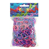 Original Rainbow Loom Farbe Meerjungfrau Jelly Mix 600 Gummibänder + 24 Clips