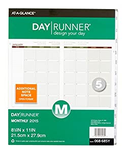 Day Runner Monthly Planner Refill 2015, 8.5 x 11 Inches (068-685Y)