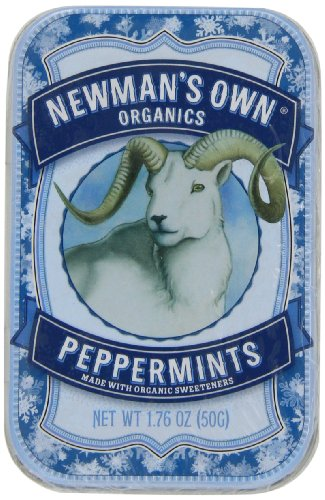 Newman's Own Organics Mints, Peppermint, 1.76-Ounce Packages (Pack of 6)