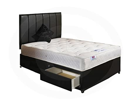 Ortho Divan Bed with Orthopaedic Mattress 2 Draws No Headboard - King Size (5'0)