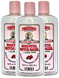 Thayer Witch Hazel Rose Petal Alcohol Free Toner with Aloe Vera 12 Ounces (Pack of 3)