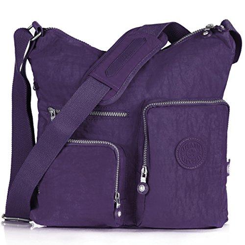 Oakarbo-Crossbody-Bag-Nylon-Multi-Pocket-Travel-Shoulder-Bag