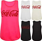 AXTokyo Womens Coca Cola Top Stretch Fit Summer Vest T Shirt