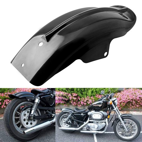 Lightweight Black Rear Fender Mudguard for Motorcycle Bike Harley Sportster Solo XL Bobber chrome spring black stitch leather solo with bracket seat fits fits for harley sportster chopper custom