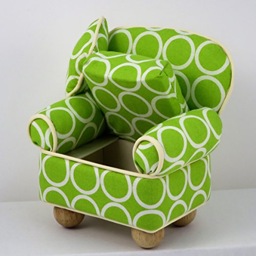 Dritz Chair Pin Cushion With Storage Compartment Green