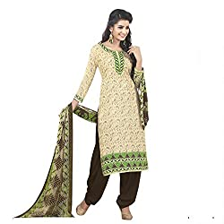Sinina Women's Crepe Printed Straight Salwar Kameez Un Stitched Dress Material