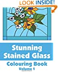 Stunning Stained Glass Colouring Book...