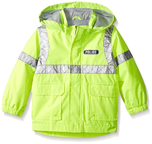 London Fog Little Boys Police Rain Slicker, Yellow, 4