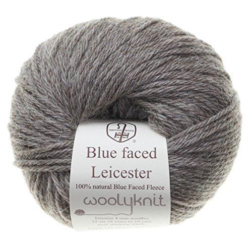 50g balls of Woolyknit Blue Faced Leicester DK| 100% British Wool, hand knitting Yarn (Mid Brown Natural Twist) by Woolyknit (British Yarn compare prices)