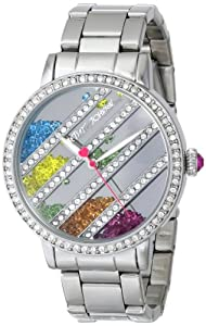 Betsey Johnson Women's BJ00319-01 Analog Display Quartz Silver Watch