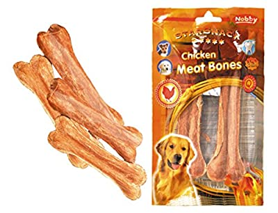 Nobby Star Snack Barbecue Chicken Meat Bones - Large, 19 cm