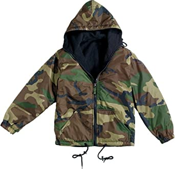 Camouflage Reversible Nylon Jacket Woodland Camo (2XL)