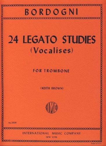 BORDOGNI - Estudios de Legato (24) (Vocalises) para Trombon (Tuba) (Brown)