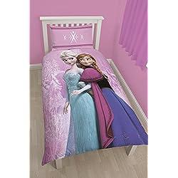 Character World - Biancheria per letto singolo, motivo: Principesse Frozen