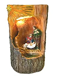 16 Inch Holy Family with Light and Water Fountain