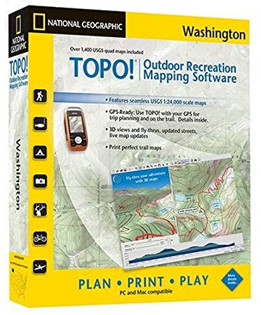 TOPO! National Geographic USGS Topographic Maps (Washington)
