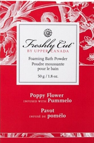 Upper Canada Soap And Candle Freshly Cut Bath Sachet In Poppy Flower Infused With Pummelo, 1.8-Ounce Envelope (Pack of 12)