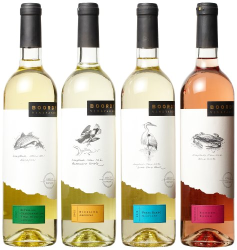 Boordy Vineyards  Blushing Winter White Wines Mixed Pack, 4 x 750 mL