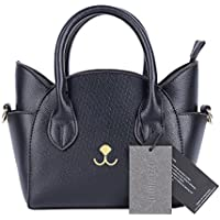 QZUnique Womens Summer Fashion Top Handle Cute Cat Cross Body Shoulder Bag (Black)