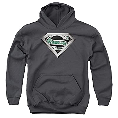 Superman Circuitry Logo Youth Pull Over Hoodie