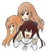 「みなみけ」第12巻限定版付属の3姉妹フィギュアのサンプル写真