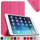 iPad mini Case - Fintie SmartShell Case for iPad mini 3 / iPad mini 2 / iPad mini, Ultra Slim Lightweight Stand with Smart Cover Auto Wake / Sleep Feature, Magenta