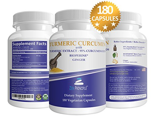 Organic Turmeric Curcumin Root and Extract, 95% Standardized Curcuminoids. With Bioperine Pepper Extract for Increased Absorption and Organic Ginger Antioxidant. Promotes Joint Health, Pain Reduction. (Apple Polyphenol Extract compare prices)