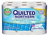 Quilted Northern Ultra Soft and Strong Double Rolls (12 Rolls) (Packaging May Vary)