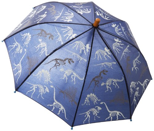 Hatley Little Boys' Umbrella-Dino Bones, Blue, One Size front-834976