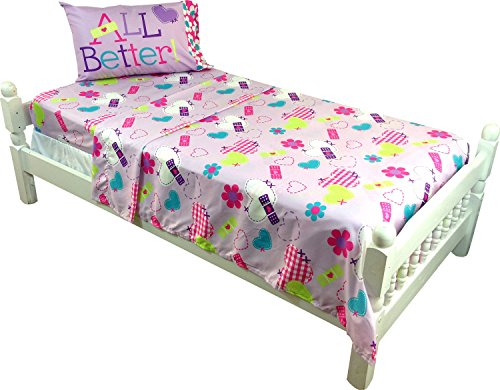 3pc Doc McStuffins Twin Bed Sheet Set Disney Doctor No More Boo Boos Bedding Accessories
