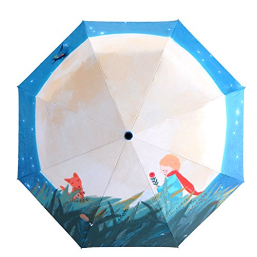 Go-Further-principito-bolsillo-tres-partysu-paraguas-plegable-linda
