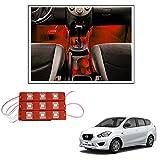 #7: Vheelocityin 9 LED Custom Cuttable Bike/ Car Red Light for Interior/ Exterior For Datsun Go
